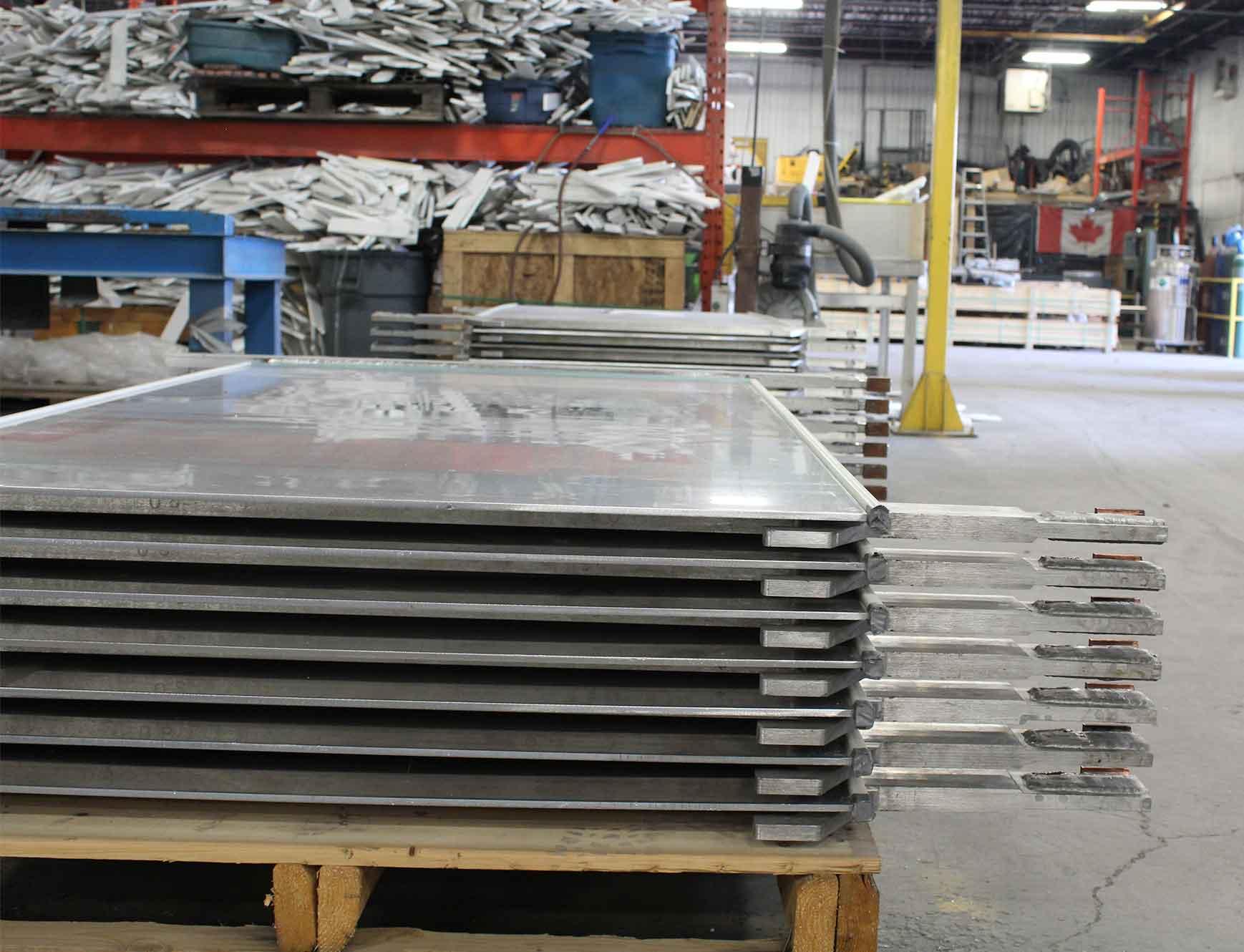 Aluminum Cathodes Final Pack after inspection
