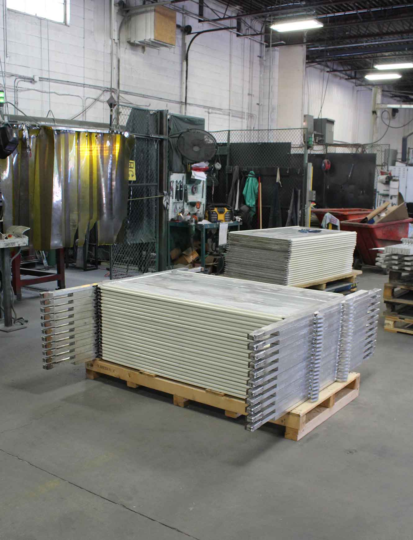 Aluminum Cathodes Welded ready for packing